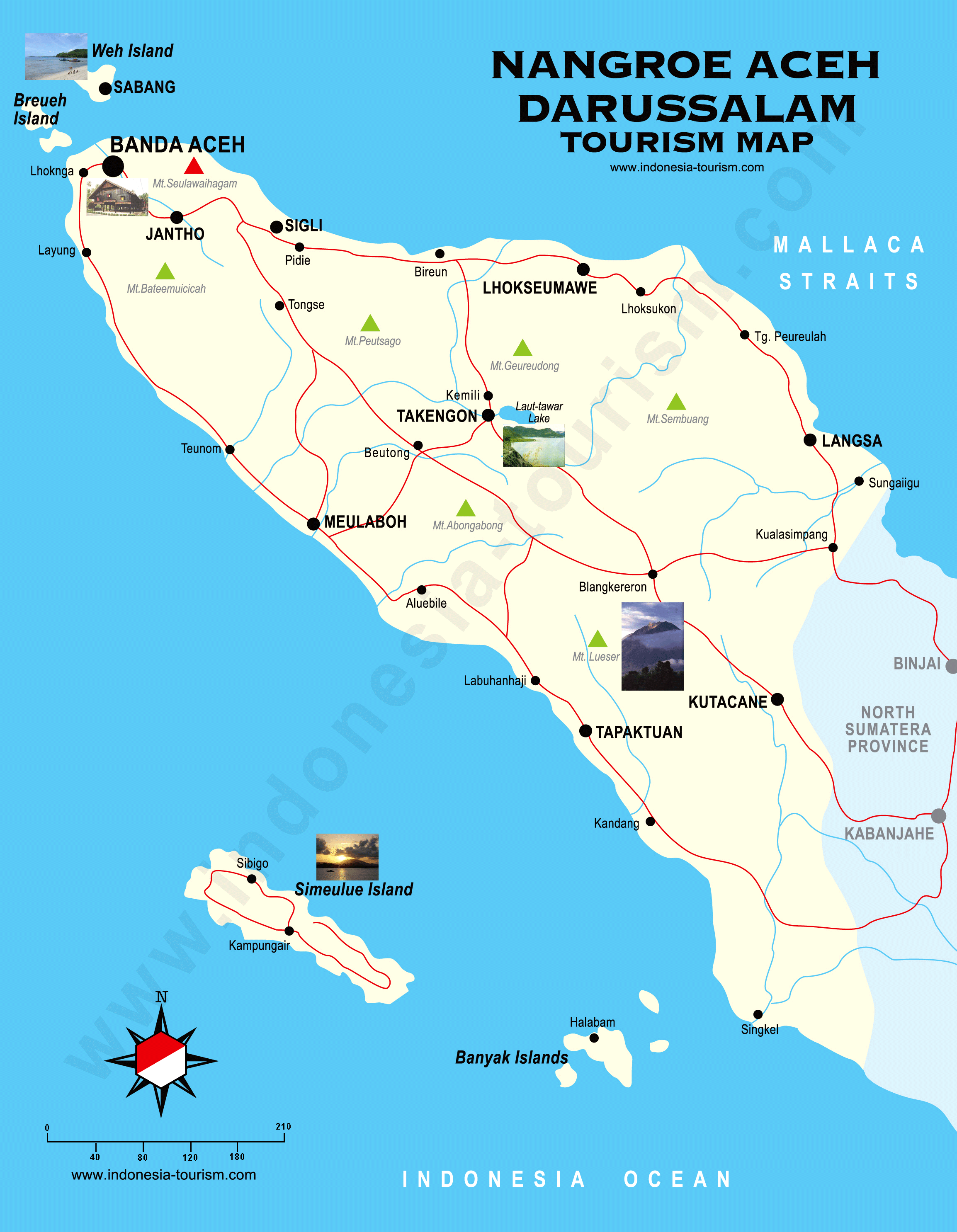 Banda Aceh Indonesia Map