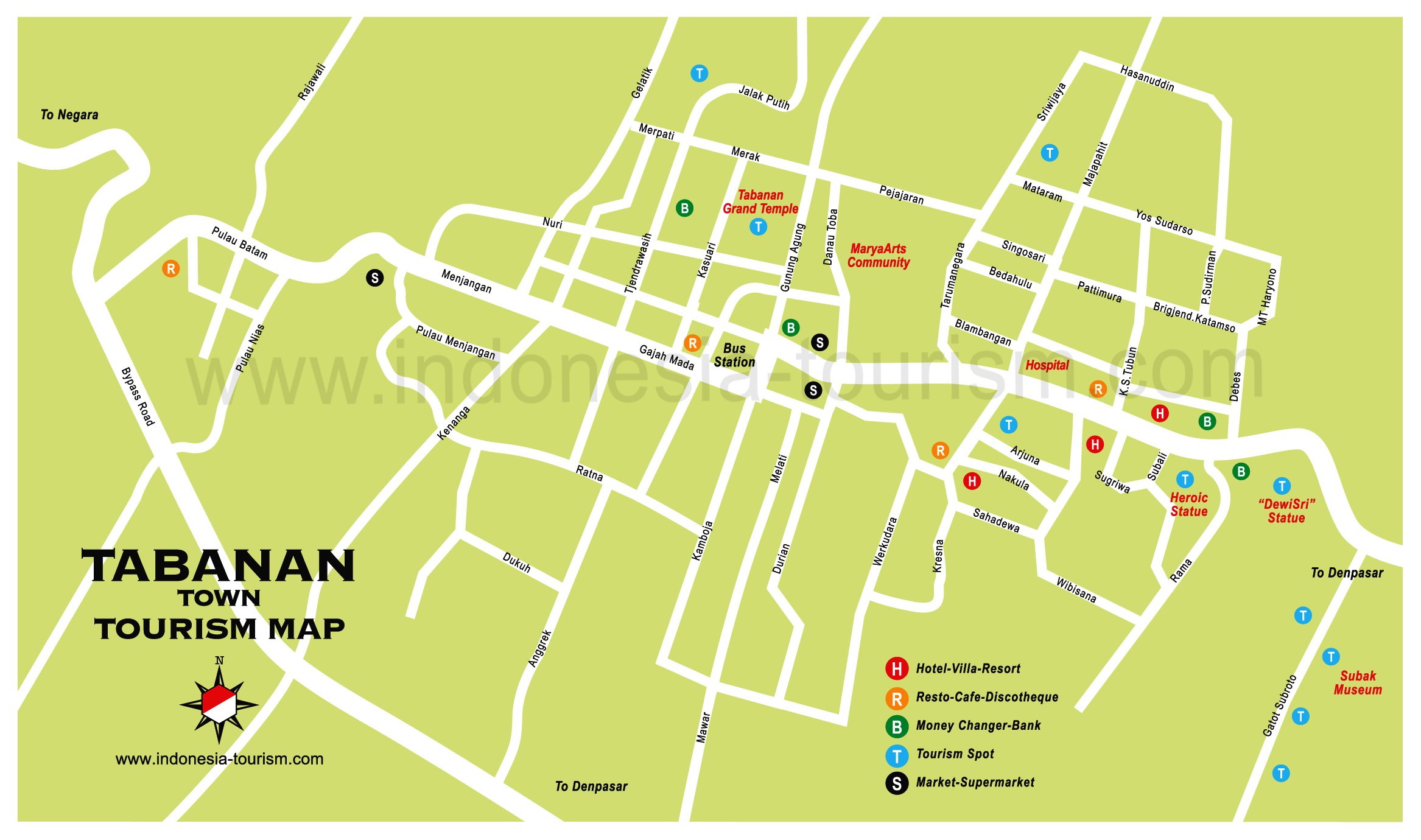 Bali weather forecast and bali map info detail tabanan location detail tabanan area location map for visitorlocation map of tabanan area regencytabanan thecheapjerseys Choice Image
