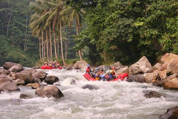 Rafting In Ciberang River Lebak Gedong Banten