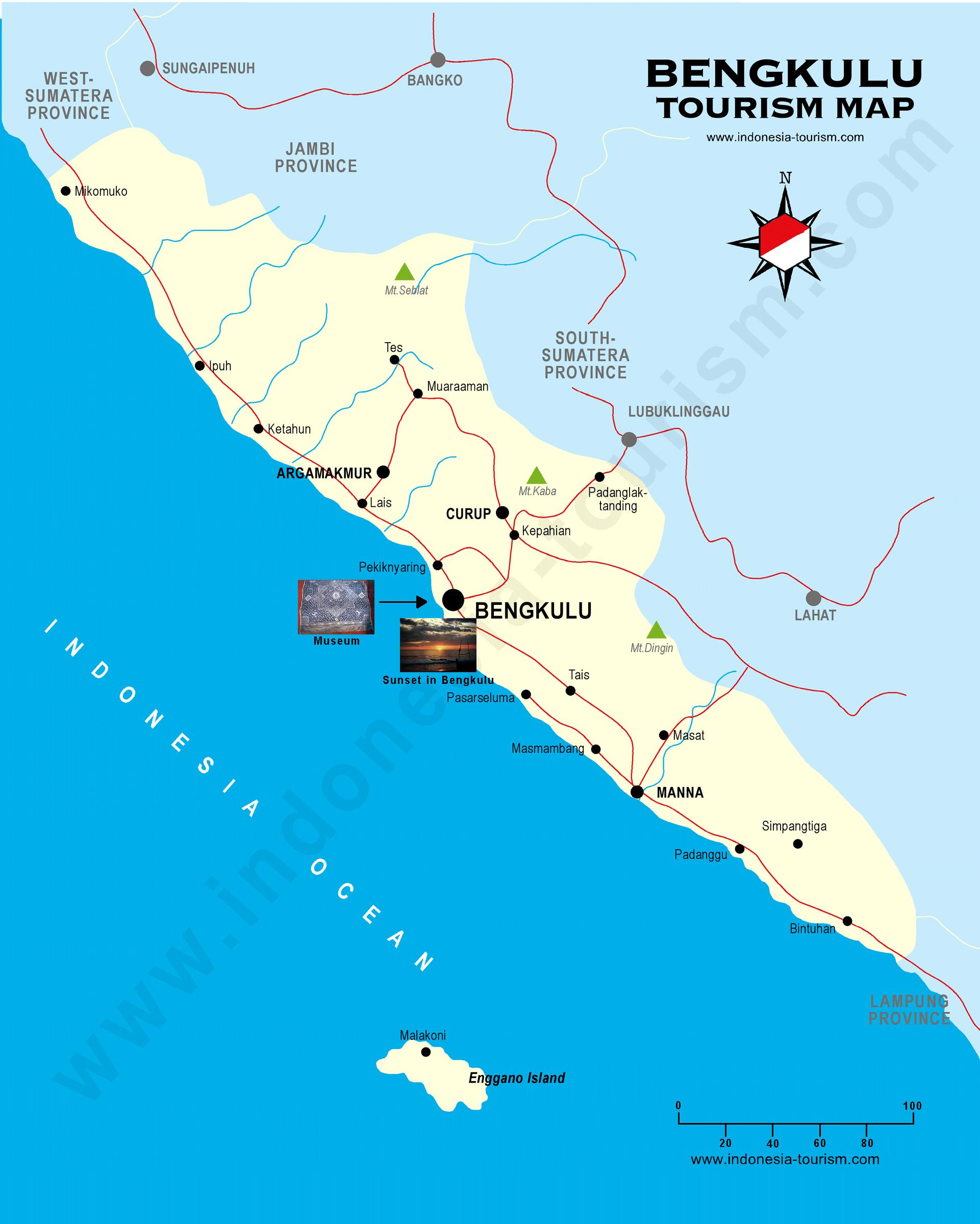 Bengkulu Map Peta Google Gambar Indonesia Asli