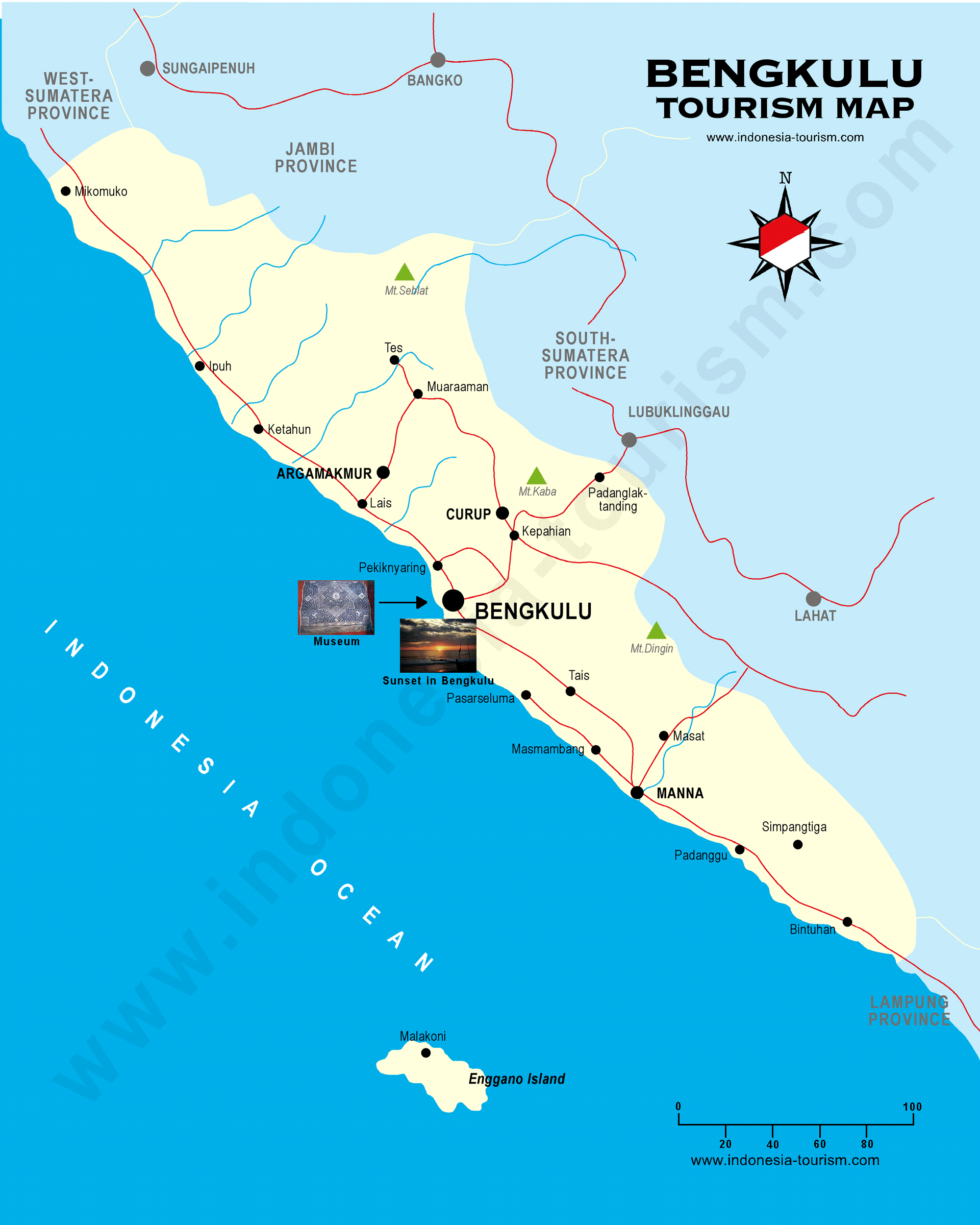 Bengkulu Map Peta Bengkulu