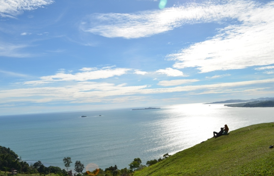 Enjoying The Great View at Langkisau Hill, West Sumatra