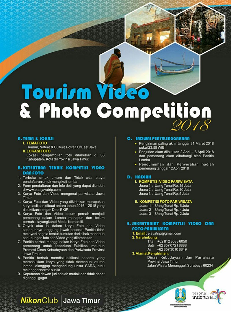 TOURISM VIDEO & PHOTO COMPETITION 2018