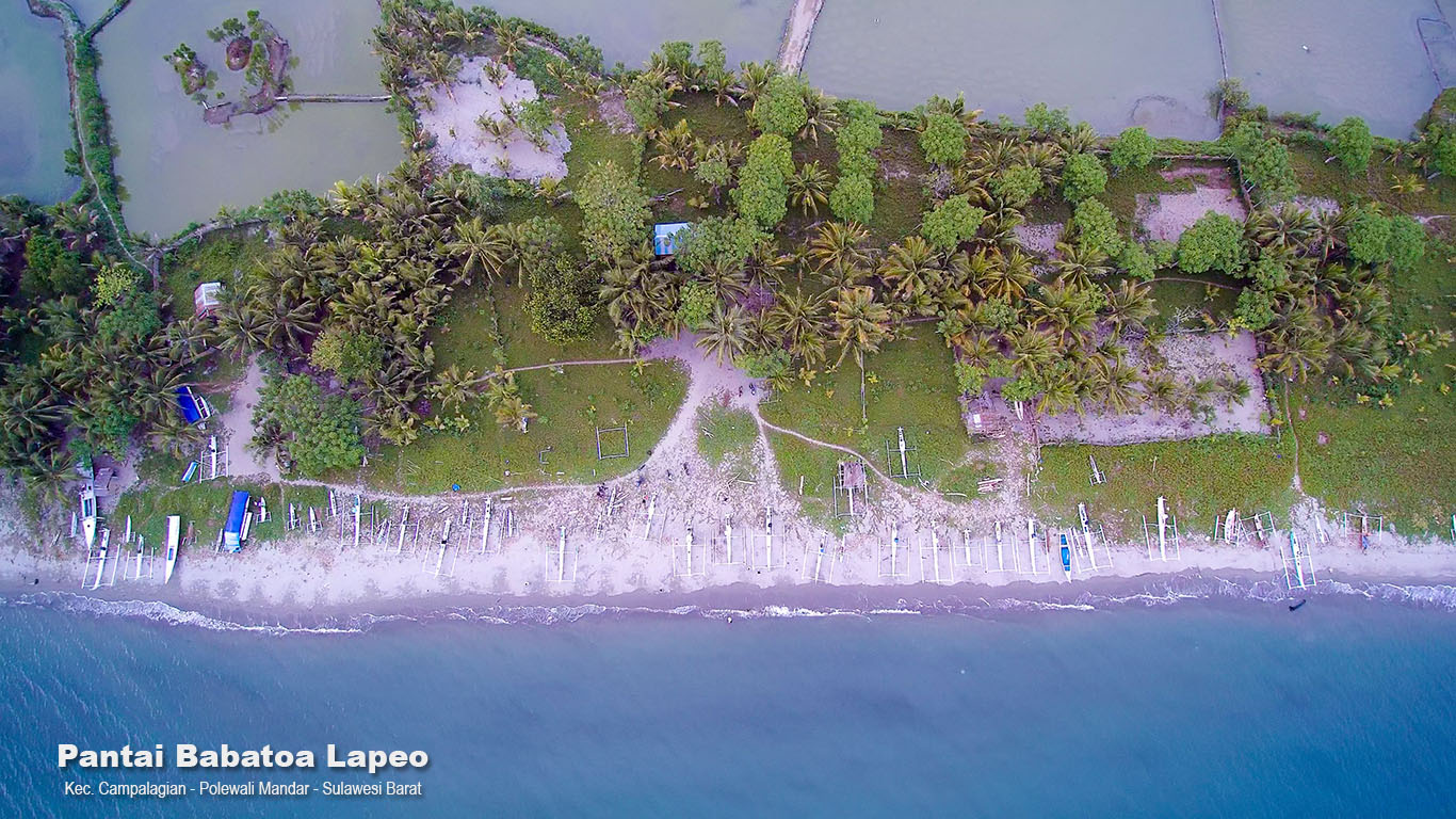 Lapeo Beach in Polewali Mandar Regency, West Sulawesi Province