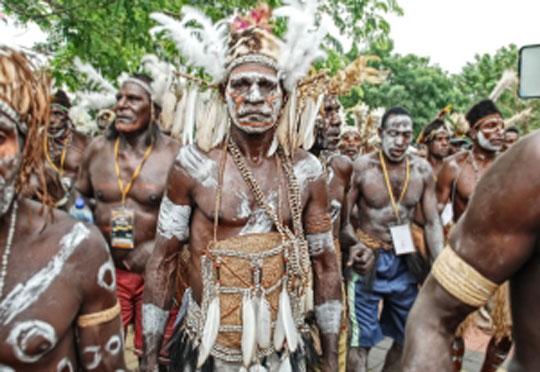 Approaching Asmat Tribe in Asmat Regency, Papua Province
