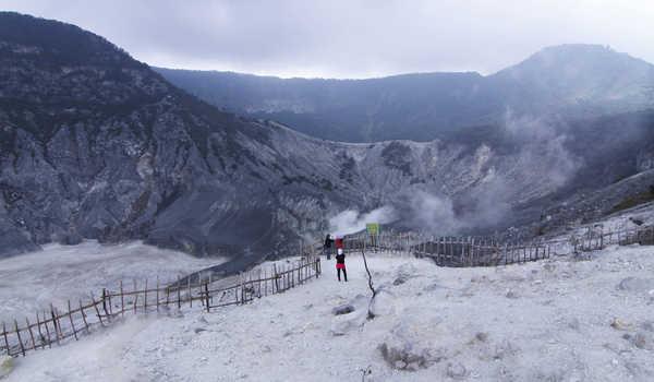 Tangkuban Perahu Mountain in West Bandung Regency, West Java Province