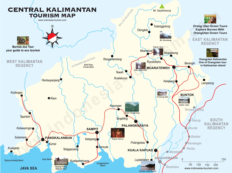 Central Kalimantan Map Peta Kalimantan Tengah Central