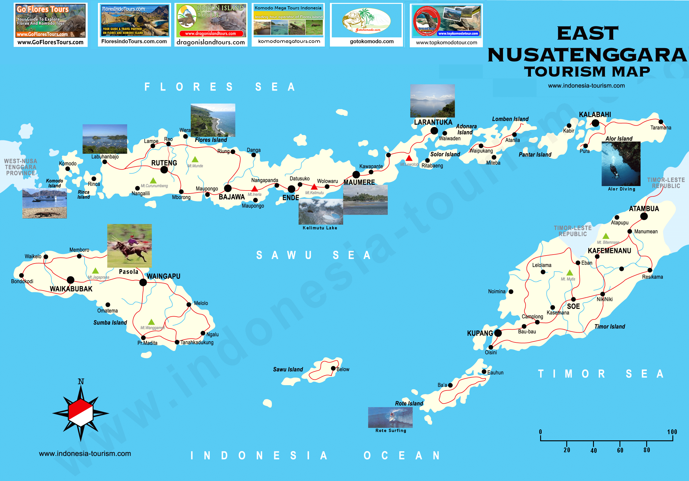 Flores Island Indonesia Map