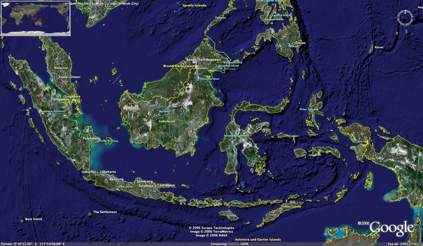 Indonesia from photo satellite