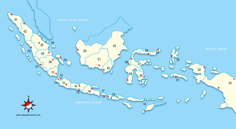 INDONESIA MAPS - MAPS OF 33 PROVINCES
