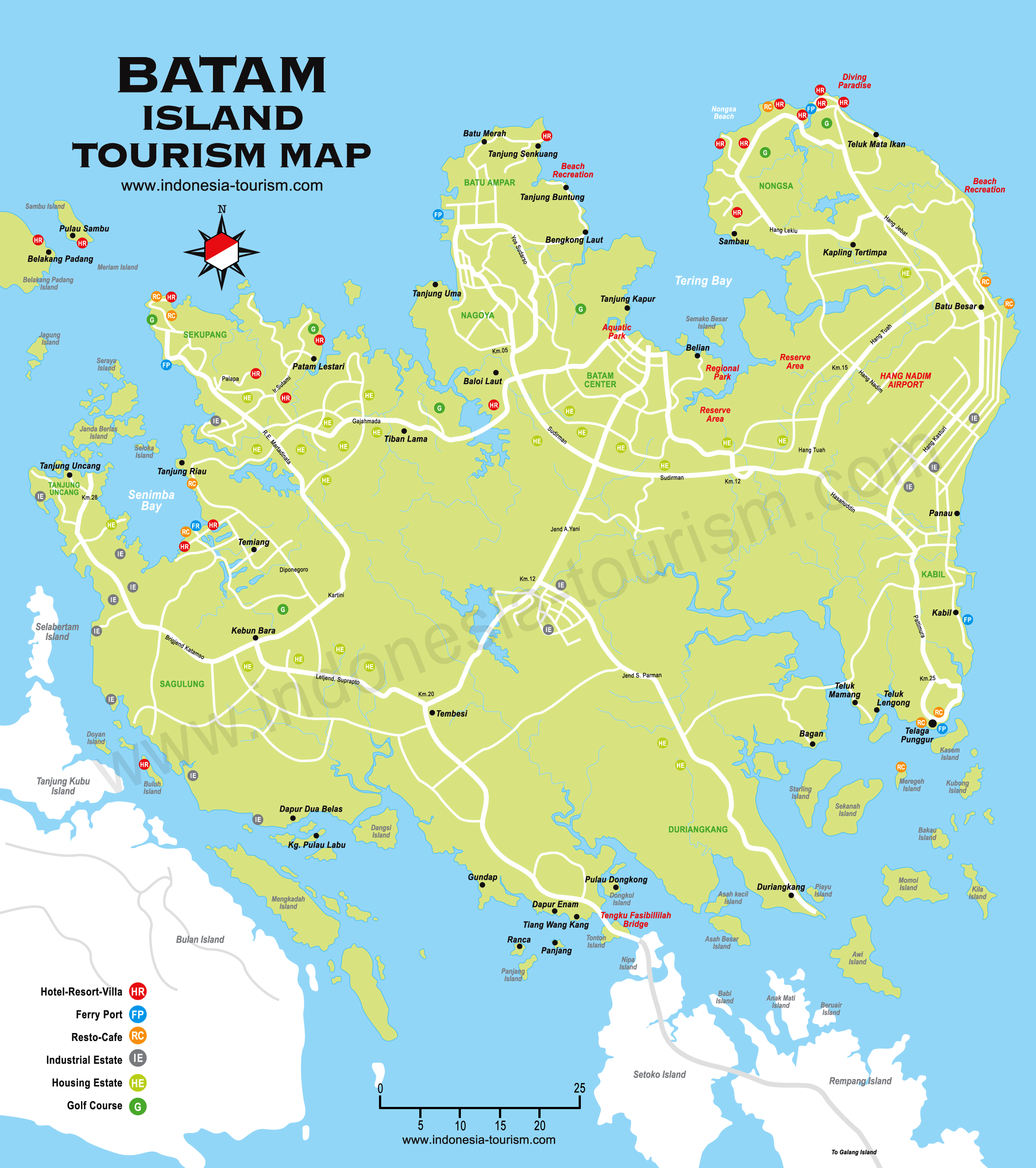 Batam Indonesia Map