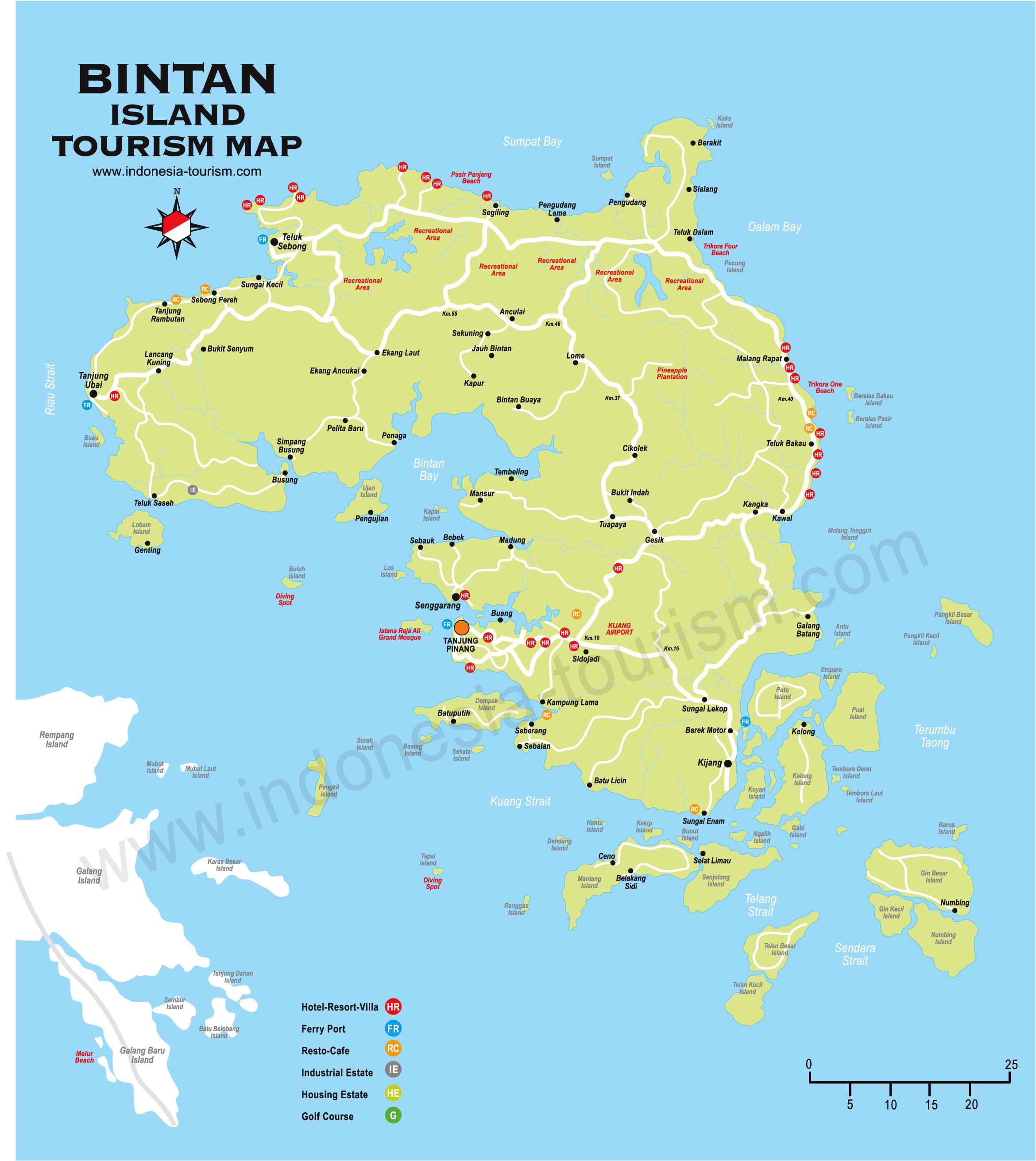 Map Of Bintan Indonesia Bintan Island Map