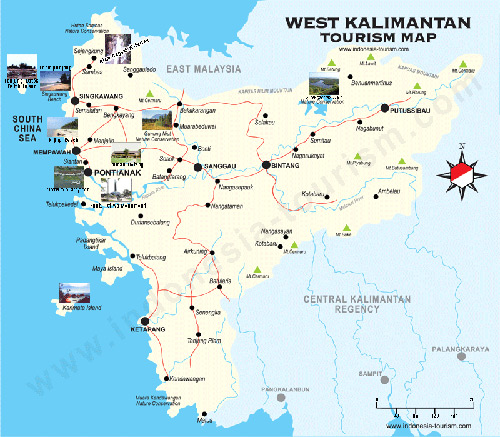 West Borneo Map Peta Kalimantan Barat West Kalimantan Map
