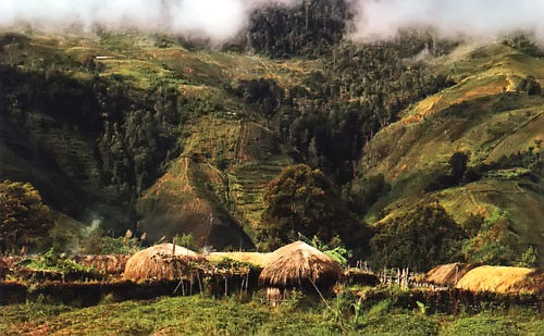 populated places in west papua images