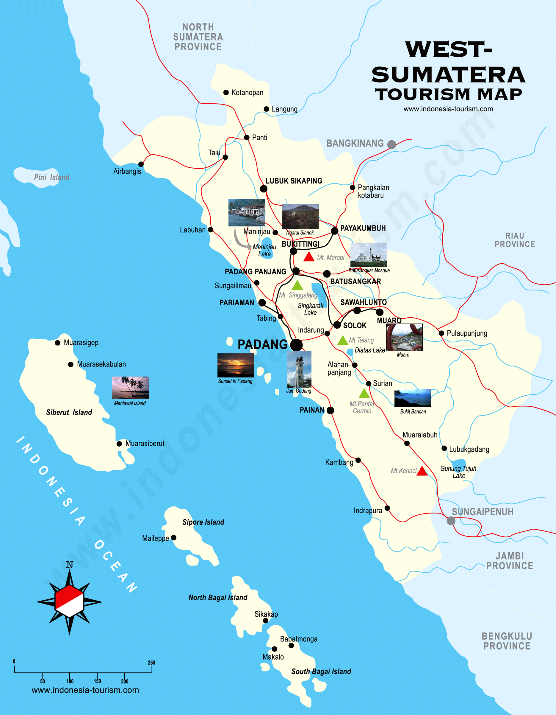 West Sumatera Map