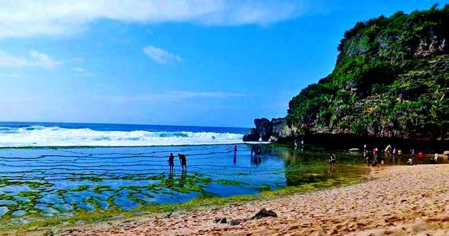 Nguyahan Beach In Gunung Kidul Regency Yogyakarta Special